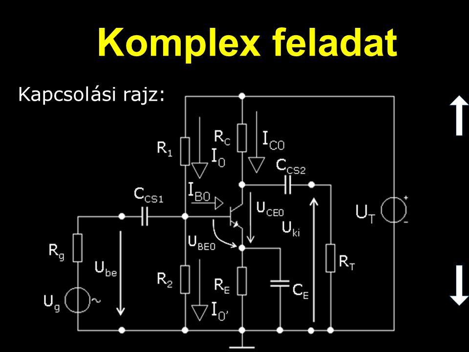 Az emitter kondenzátor: Komplex feladat (C E )