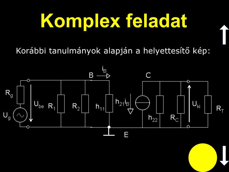 Az ismert képletek felírásaival: Komplex feladat (A u )