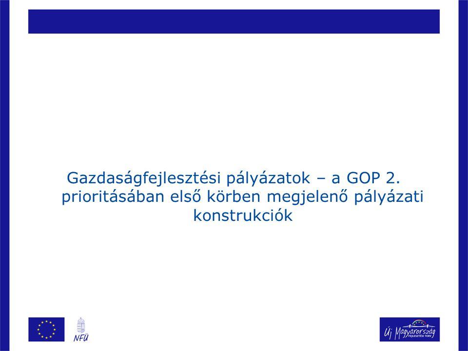 Gazdaságfejlesztési pályázatok – a GOP 2.