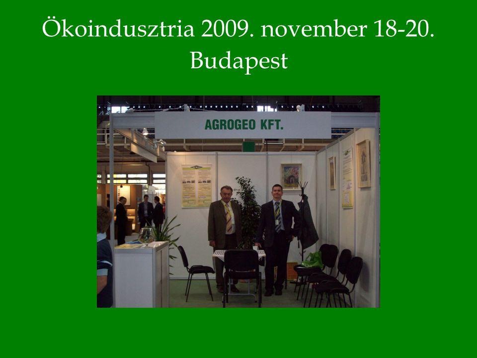 Ökoindusztria 2009. november 18-20. Budapest