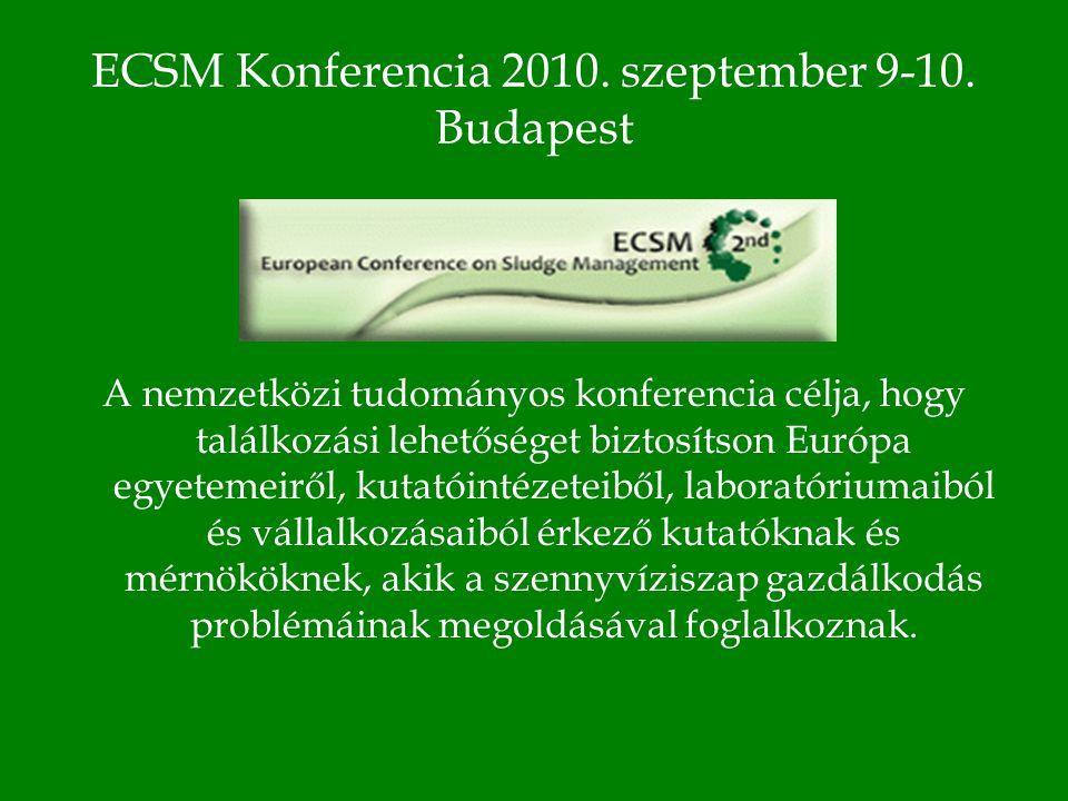 ECSM Konferencia 2010. szeptember 9-10.
