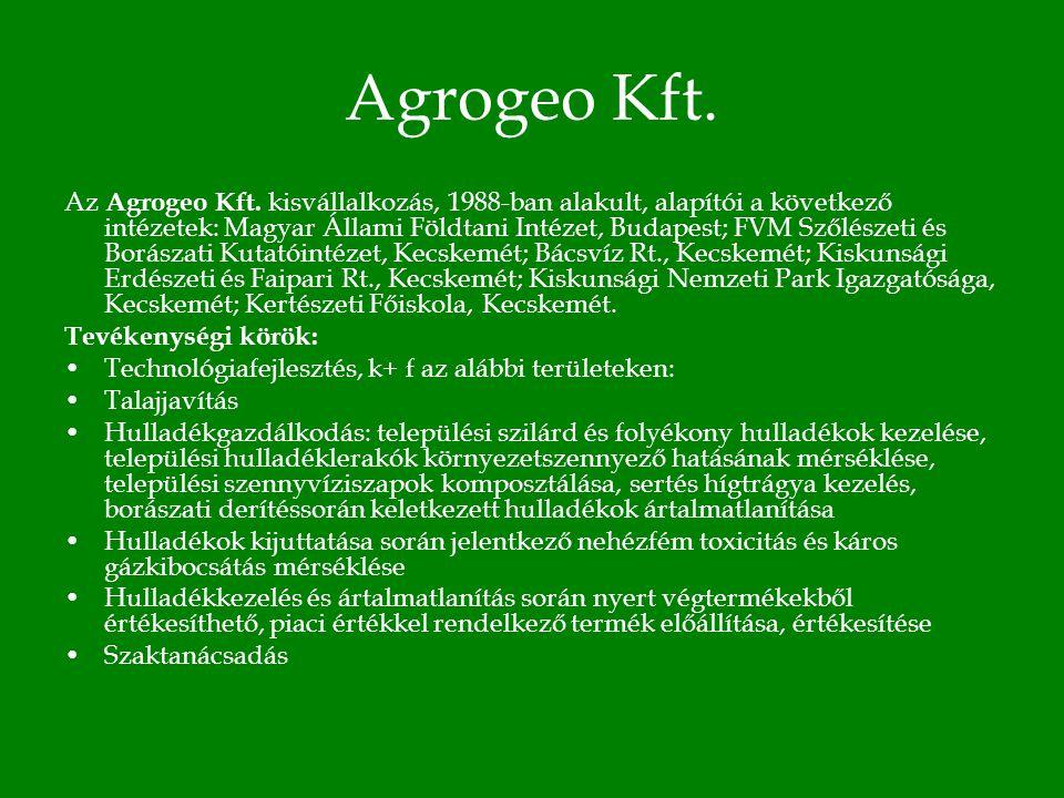 Agrogeo Kft. Az Agrogeo Kft.
