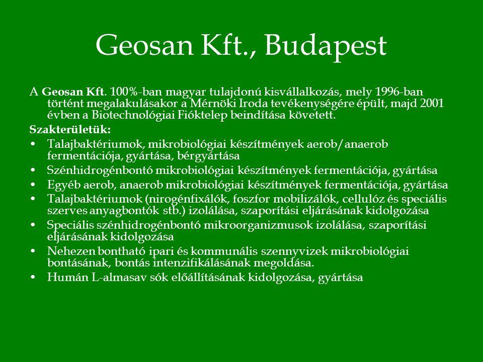 Geosan Kft., Budapest A Geosan Kft.