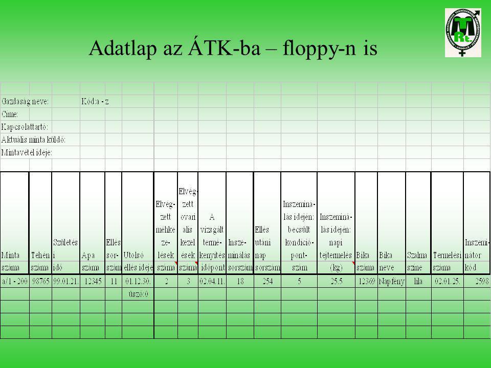 Adatlap az ÁTK-ba – floppy-n is
