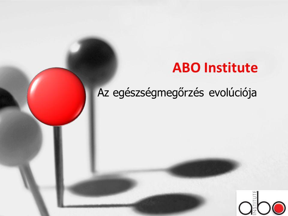ABO Institute Az egészségmegőrzés evolúciója