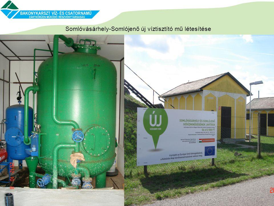 Somlóvásárhely-Somlójenő új víztisztító mű létesítése