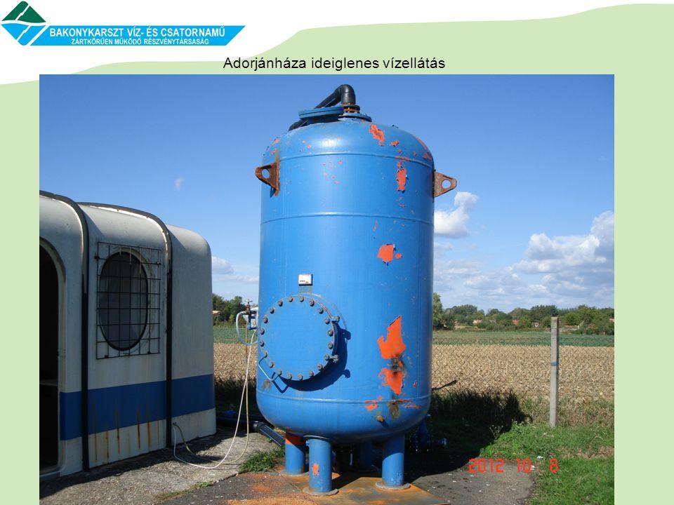 Adorjánháza ideiglenes vízellátás