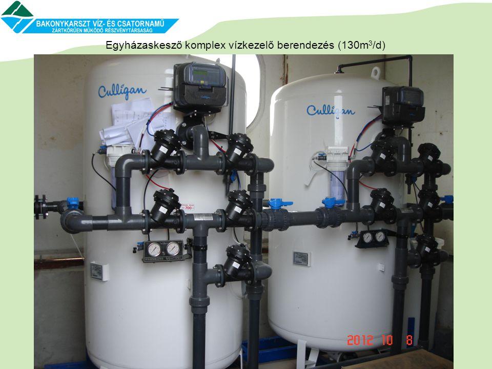 Egyházaskesző komplex vízkezelő berendezés (130m 3 /d)