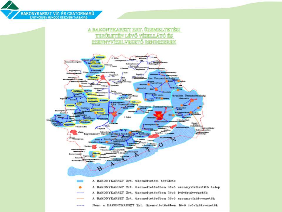 Nemesvámos és Hidegkút-Tótvázsony települések ivóvízhálózatának összekötése A tervezett távvezetékkel ellátott terület átlagos vízigénye: 200 m 3 /d Tervezett vezeték: 6316 m D 160 KPE; Tervezett átemelő:WILO-Comfort-Vario COR 2 MVIE 803/VR