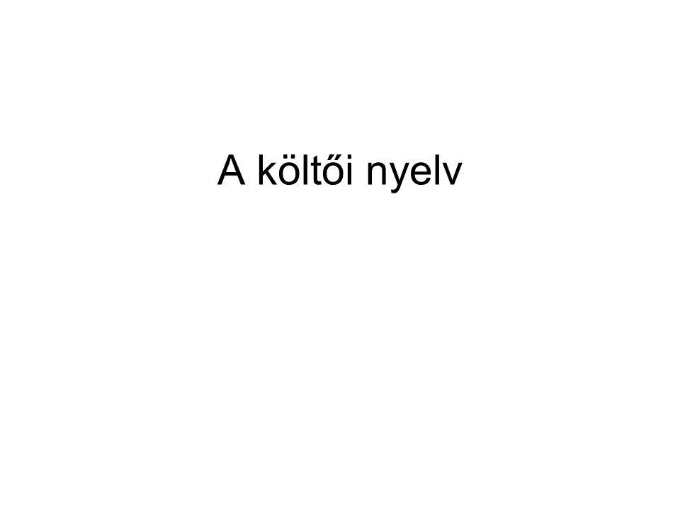 A költői nyelv