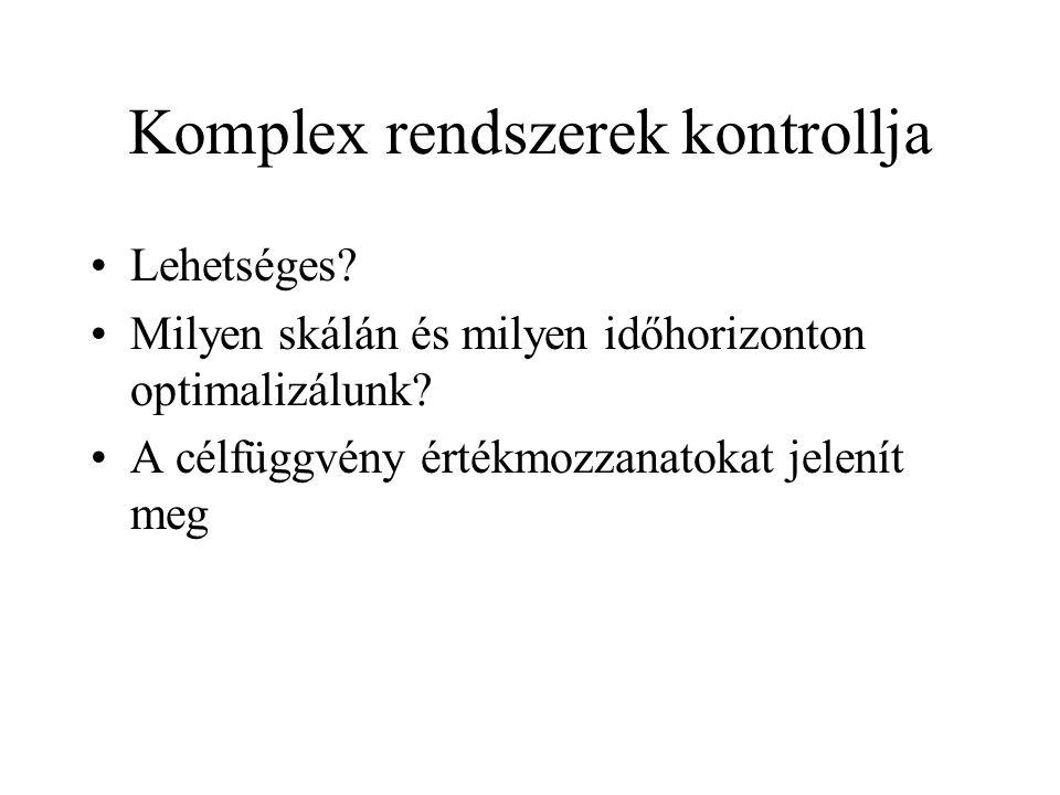 Komplex rendszer szabályozása.