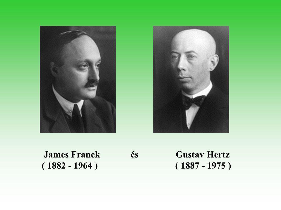 James Franck és Gustav Hertz ( 1882 - 1964 ) ( 1887 - 1975 )