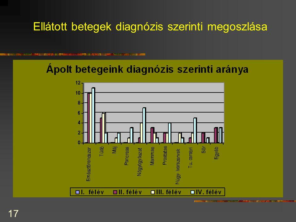 17 Ellátott betegek diagnózis szerinti megoszlása