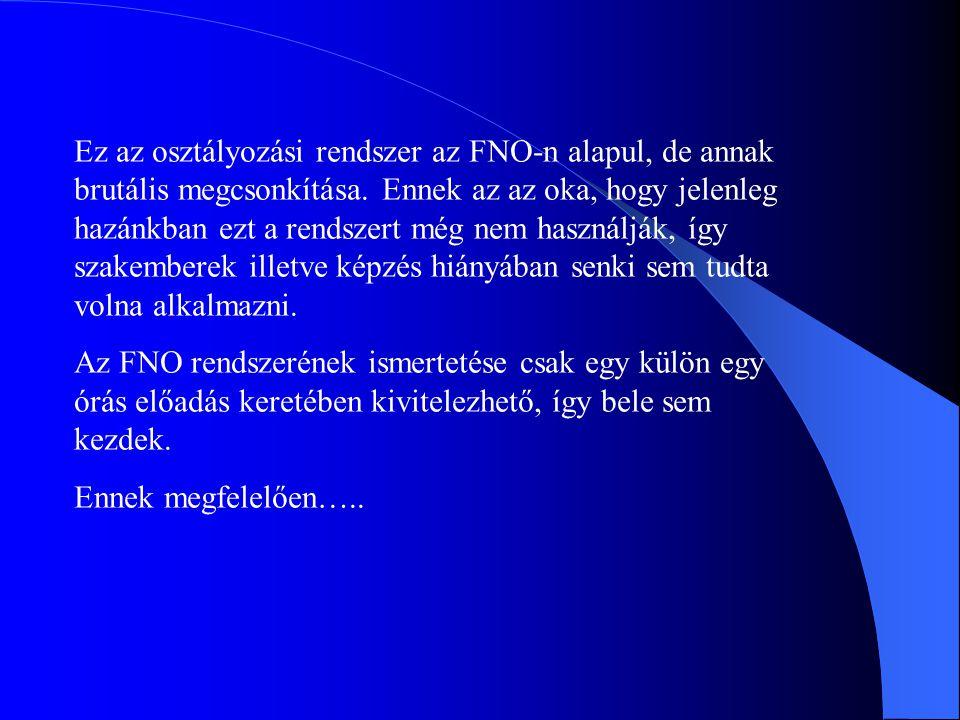 Ez az osztályozási rendszer az FNO-n alapul, de annak brutális megcsonkítása.