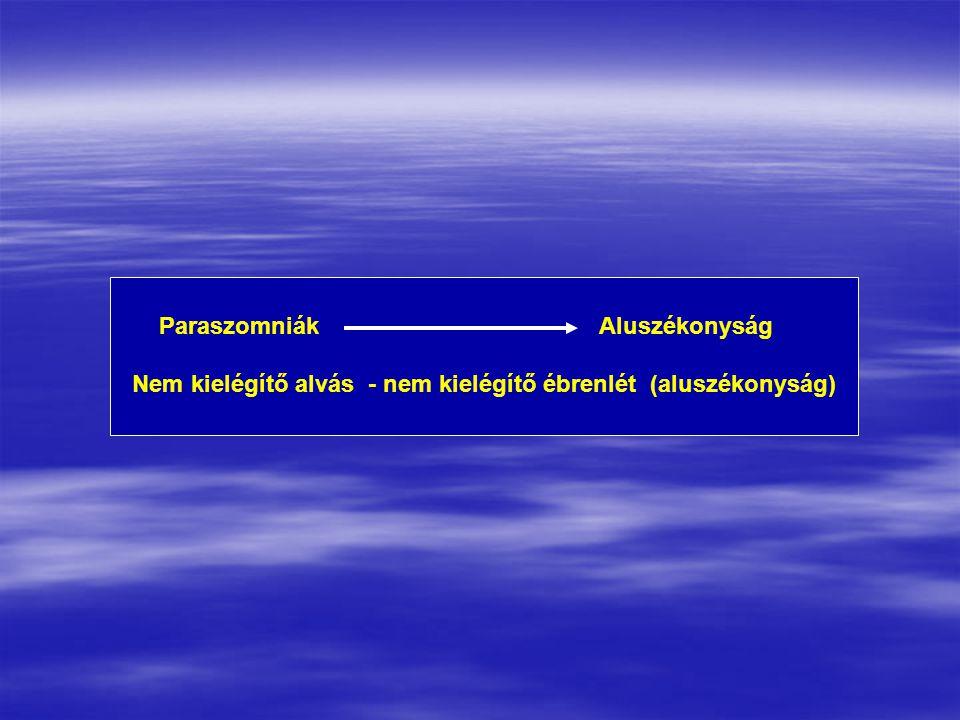 ParaszomniákAluszékonyság Nem kielégítő alvás - nem kielégítő ébrenlét (aluszékonyság)