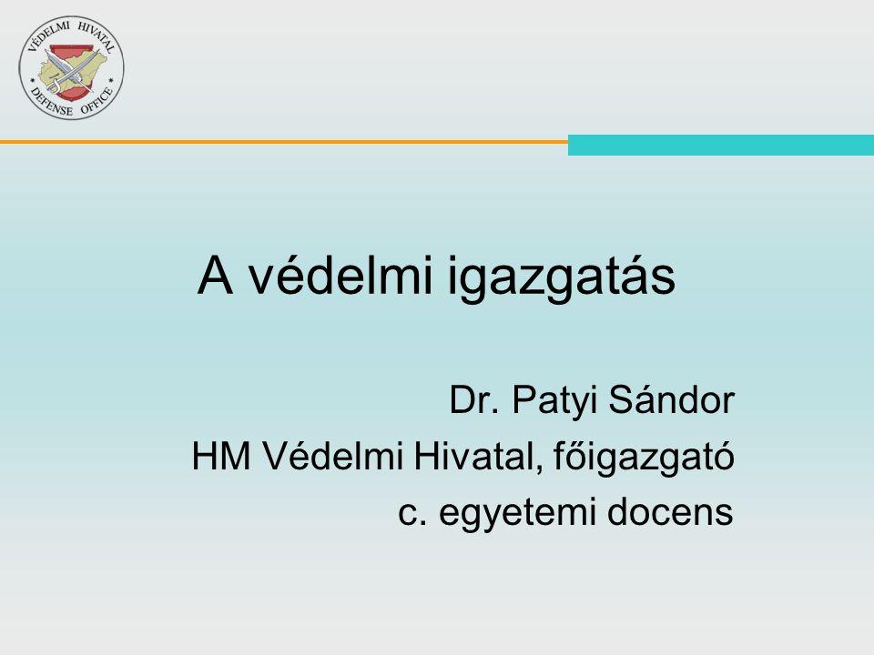 2 1055/2010.(III.5.) Korm. határozata I. A védelmi felkészítés 2010.
