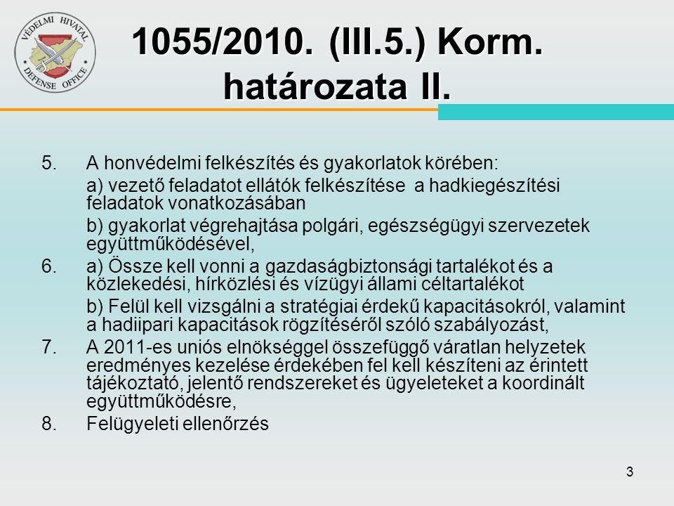 54 Kritikus Infrastruktúra Védelem folyamatának lépései 2080/2008.