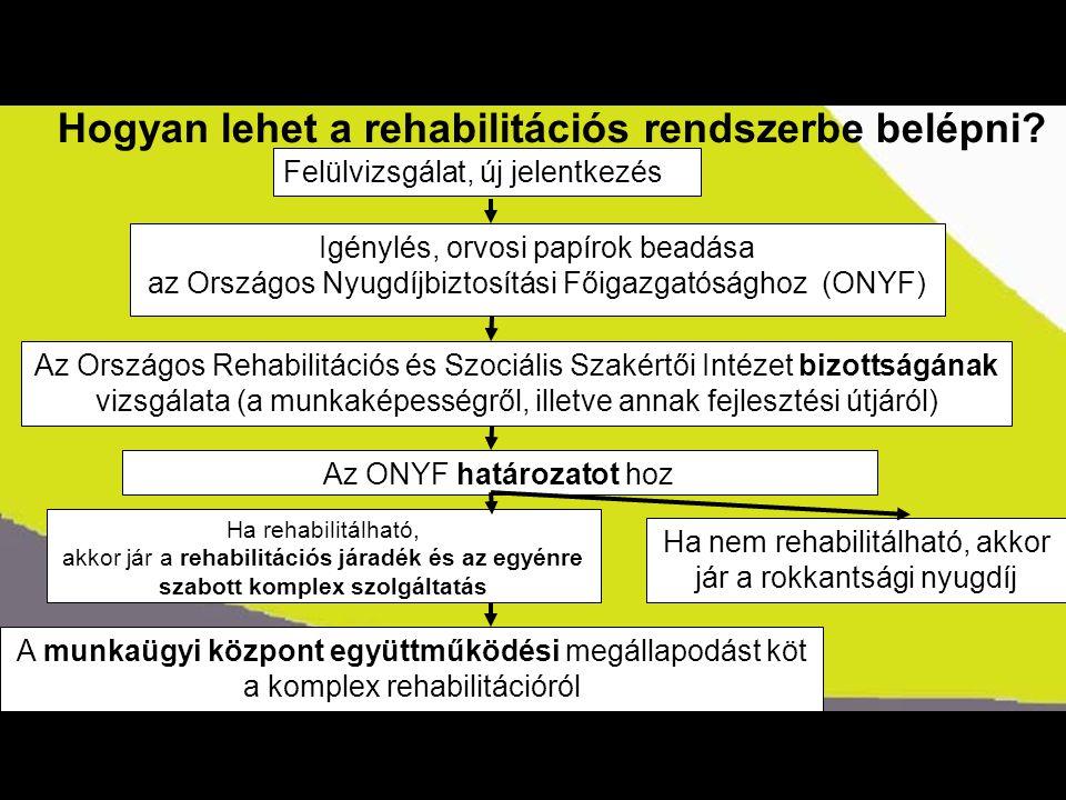 Kormányszóvivői tájékoztató Hogyan lehet a rehabilitációs rendszerbe belépni? Igénylés, orvosi papírok beadása az Országos Nyugdíjbiztosítási Főigazga