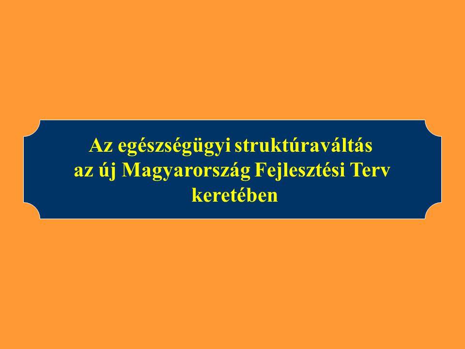 Az egészségügyi struktúraváltás az új Magyarország Fejlesztési Terv keretében