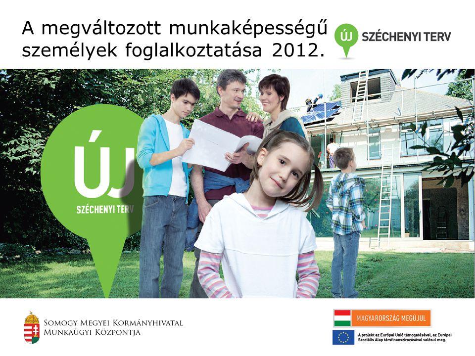 A megváltozott munkaképességű személyek foglalkoztatása 2012.