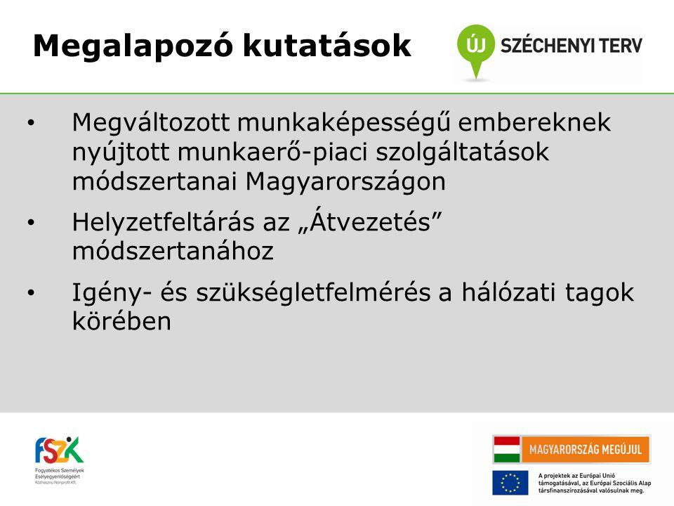Megváltozott munkaképességű embereknek nyújtott munkaerő-piaci szolgáltatások módszertanai Magyarországon • Támogatott Foglalkoztatás Szolgáltatás (TF) • Megoldás Munkáltatóknak és Megváltozott Munkaképességű Munkavállalóknak (4M Program) • Látássérültek Foglalkozási Rehabilitációja (LSR / LFR) • Munkaasszisztensi Szolgálat • Komplex Munkaerő-piaci Szolgáltatás (KMP/KEFISZ) Módszertanok elemzése