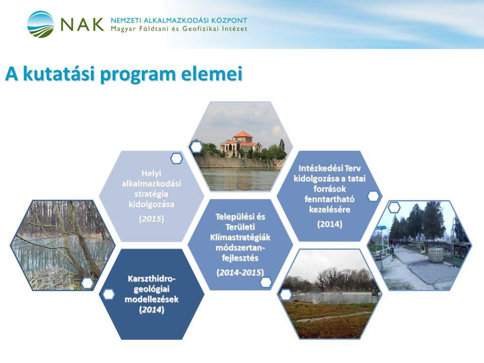 A kutatási program elemei