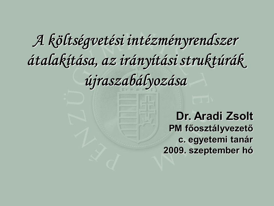 Dr. Aradi Zsolt PM főosztályvezető c. egyetemi tanár 2009.