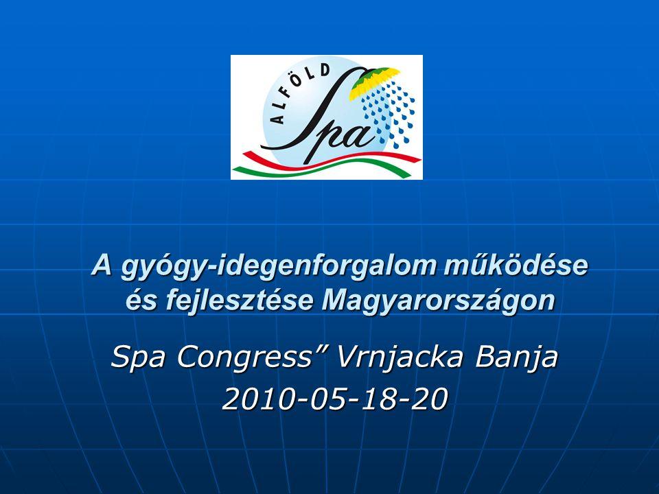 """A gyógy-idegenforgalom működése és fejlesztése Magyarországon Spa Congress"""" Vrnjacka Banja 2010-05-18-20"""