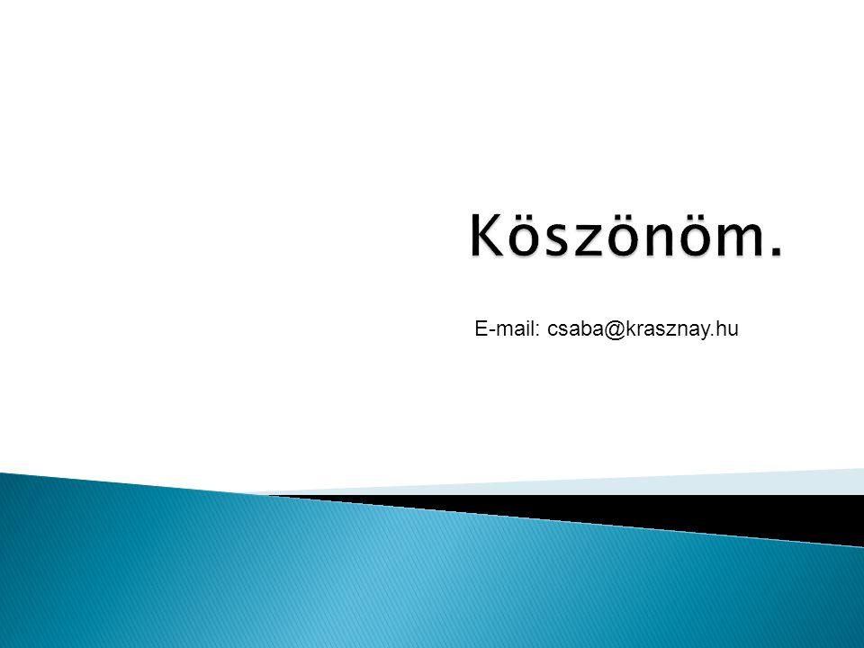 E-mail: csaba.krasznay@hp.com E-mail: csaba@krasznay.hu