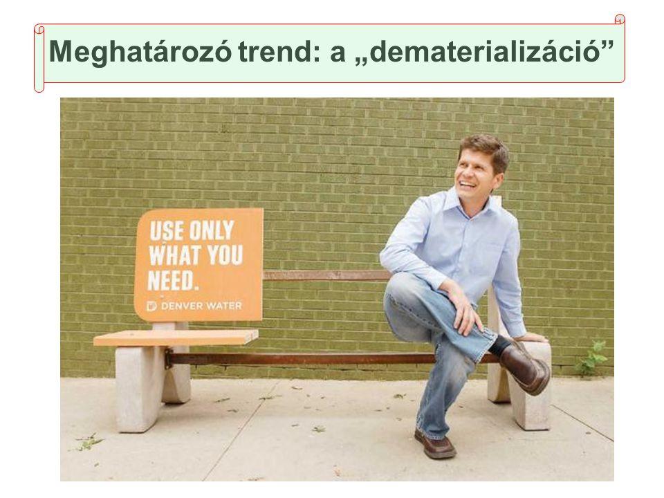 """Meghatározó trend: a """"dematerializáció"""""""