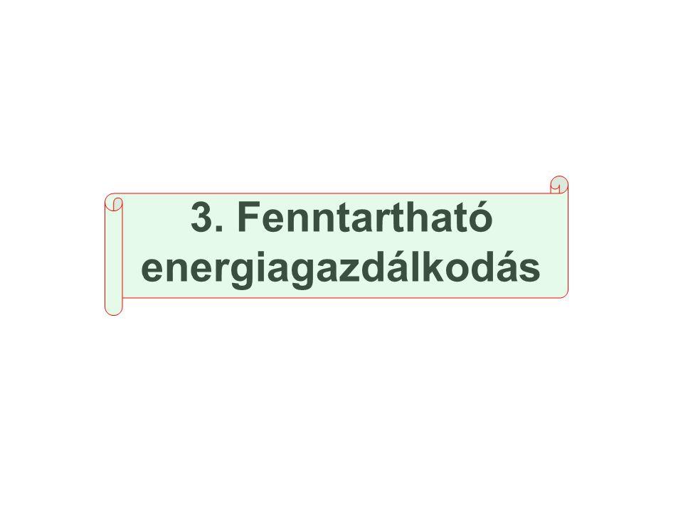 3. Fenntartható energiagazdálkodás