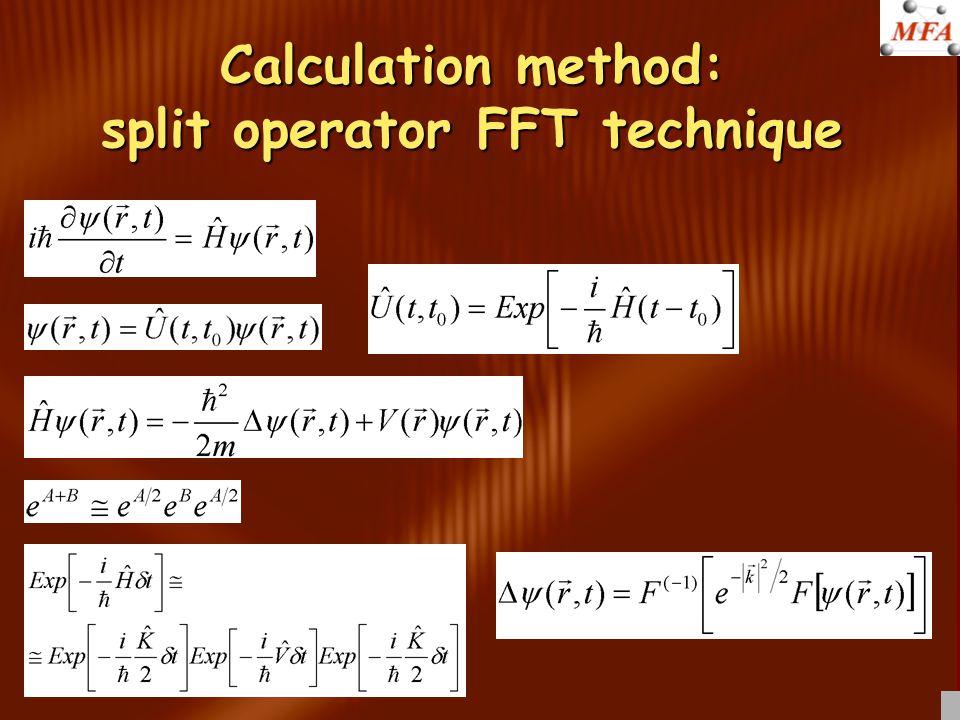 Nyelő potenciál konstrukció A komplex potenciál ábrázolása színekkel Zöld: valós rész Piros: képzetes rész V=V szórási +iV nyelő Nyelő potenciál: fokozatosan növekvő negatív képzetes potenciál