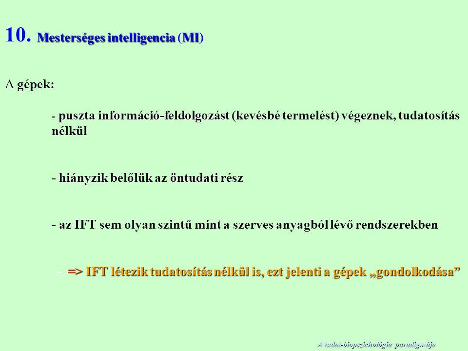 Mesterséges intelligenciaMI 10.
