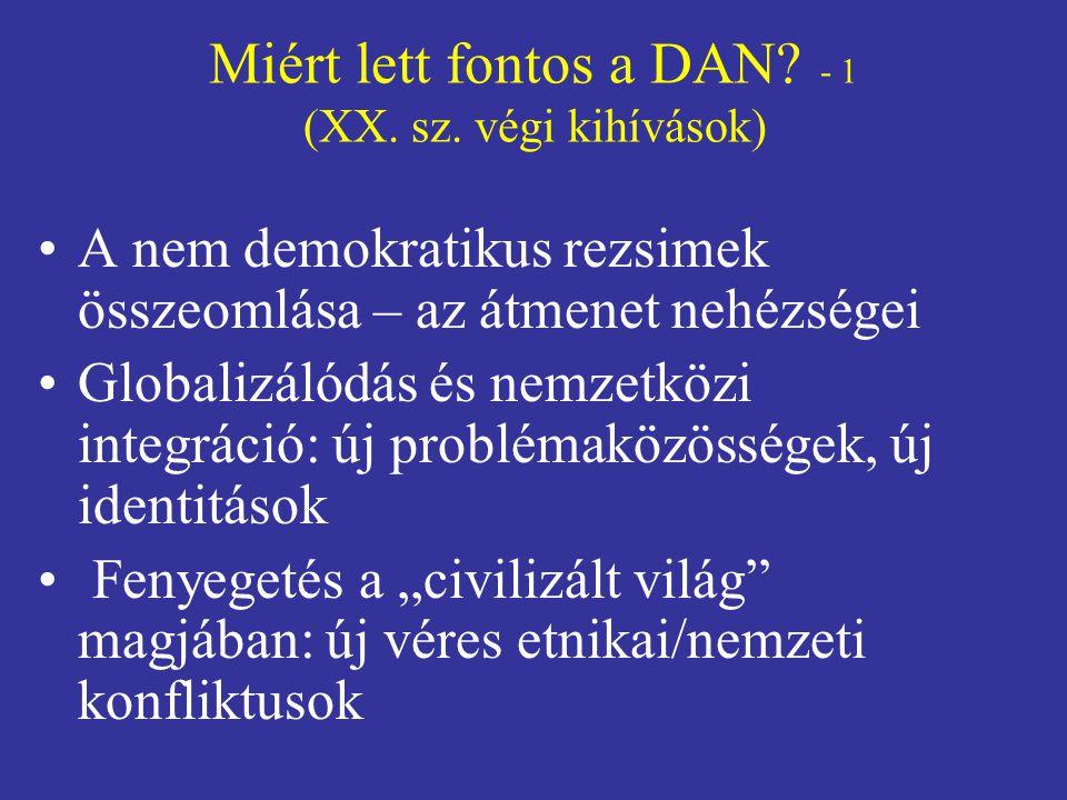 Miért lett fontos a DAN.- 1 (XX. sz.