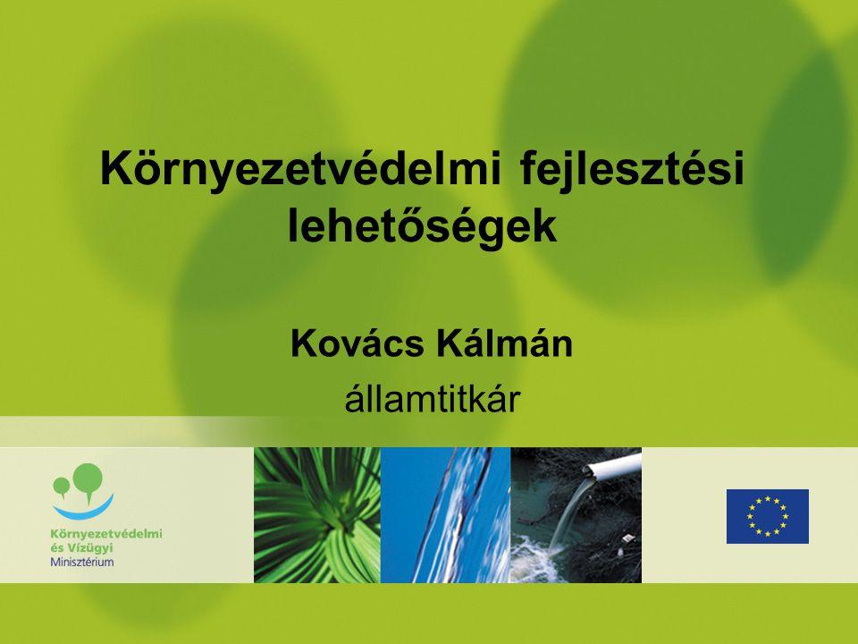 """Kihívások a környezetvédelem területén •Klímaváltozás elleni küzdelem – további szennyezés csökkentése és alkalmazkodás (Kyoto, """"VAHAVA , Klíma stratégia, Energia stratégia,…) •Uniós kötelezettségek teljesítése - """"derogációs és egyéb határidőhöz kötött kötelezettségek (Acquis Communitaire, Csatlakozási Szerződés, EU irányelvek,…) •Fenntartható fejlődés – Versenyképesség az új feltételek között (EU Lisszaboni Stratégia)"""