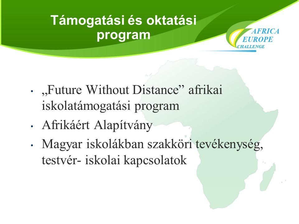 """Támogatási és oktatási program • """"Future Without Distance"""" afrikai iskolatámogatási program • Afrikáért Alapítvány • Magyar iskolákban szakköri tevéke"""