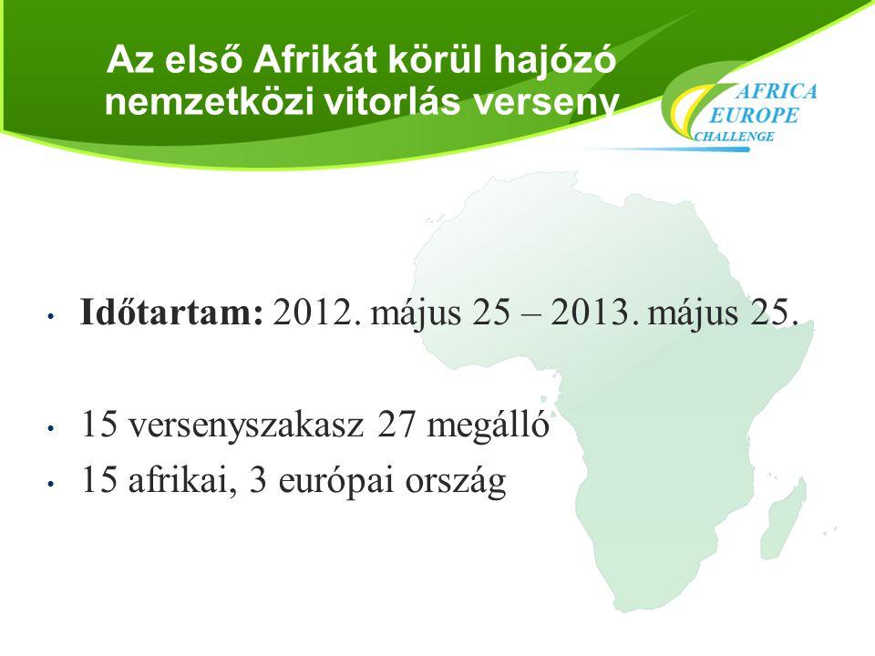 Az első Afrikát körül hajózó nemzetközi vitorlás verseny • Időtartam: 2012. május 25 – 2013. május 25. • 15 versenyszakasz 27 megálló • 15 afrikai, 3