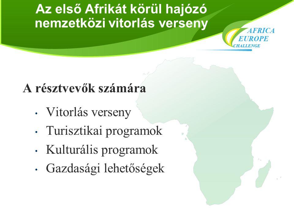 Az első Afrikát körül hajózó nemzetközi vitorlás verseny A résztvevők számára • Vitorlás verseny • Turisztikai programok • Kulturális programok • Gazd