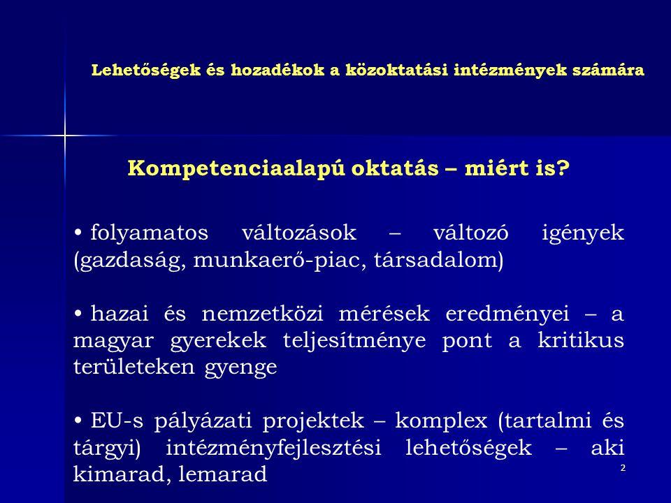 3 Miért kompetencia.• Az ismeretek nagy mennyisége, a lexikális tudás nem elég.