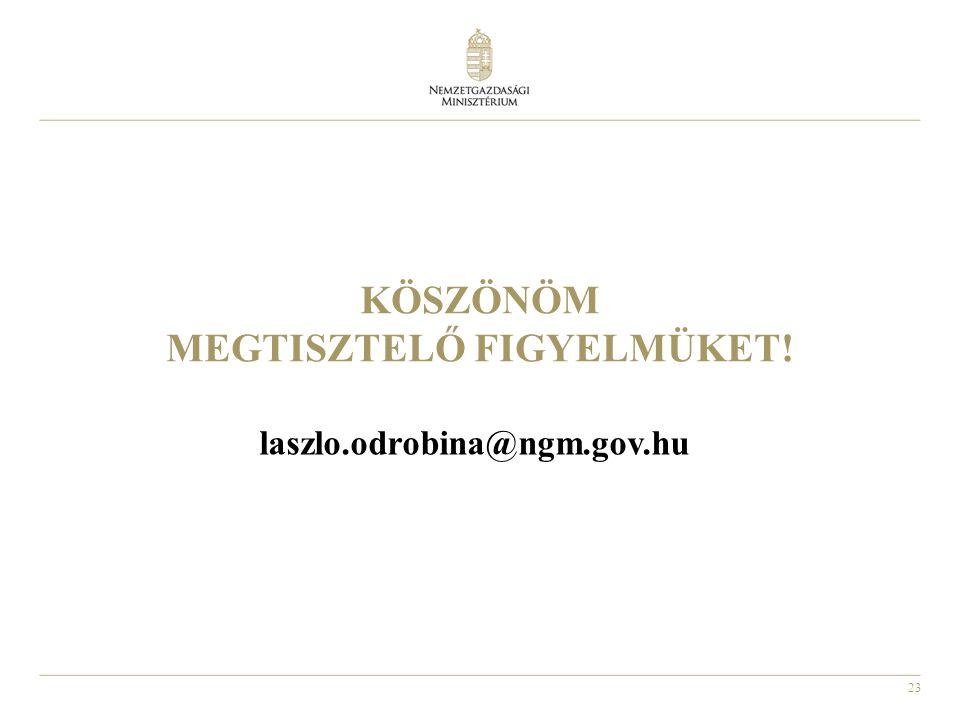 23 KÖSZÖNÖM MEGTISZTELŐ FIGYELMÜKET! laszlo.odrobina@ngm.gov.hu