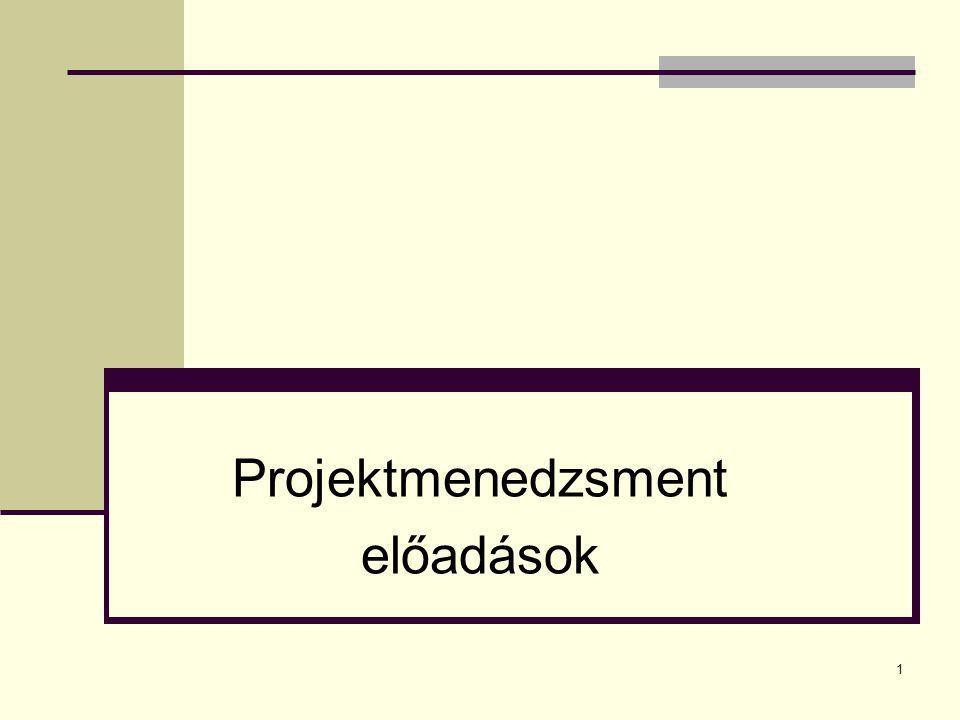 1 Projektmenedzsment előadások