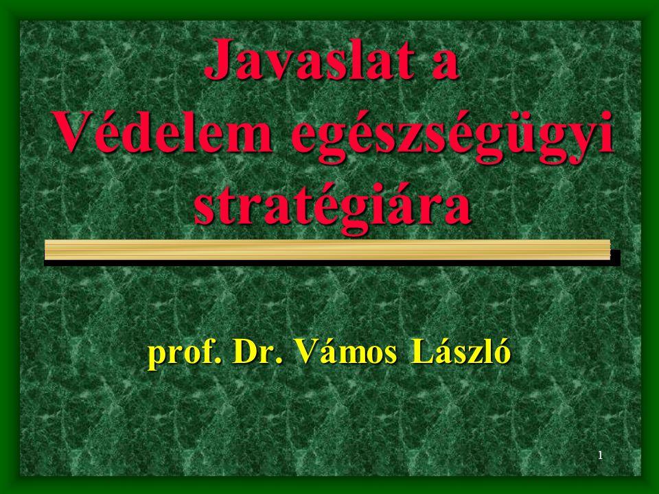 1 Javaslat a Védelem egészségügyi stratégiára prof. Dr. Vámos László