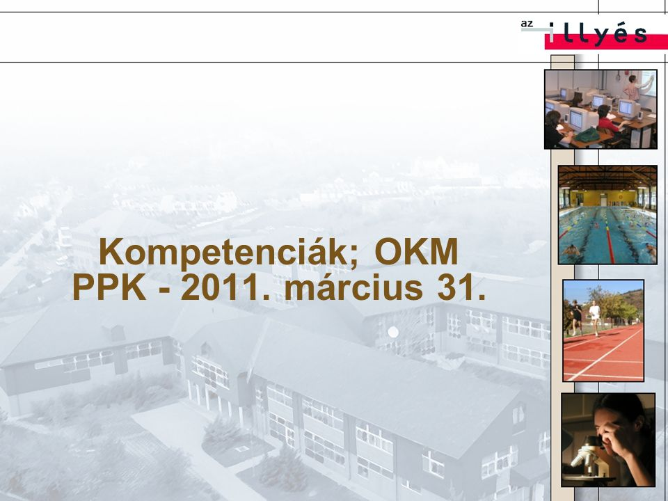 Kompetenciák; OKM PPK - 2011. március 31.