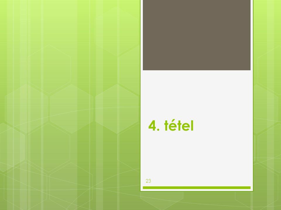 4. tétel 23
