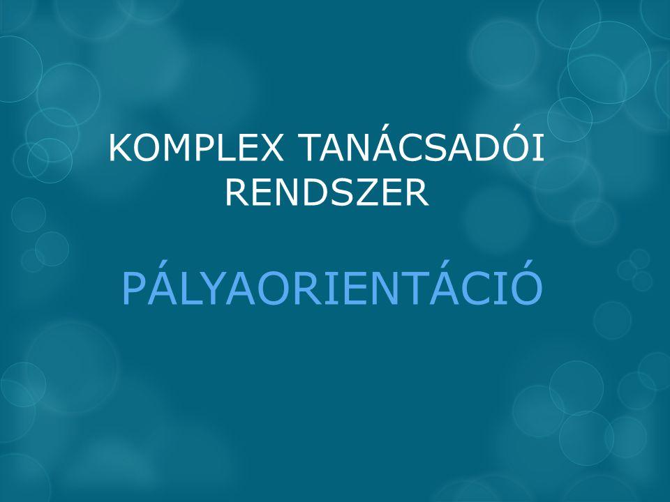 KOMPLEX TANÁCSADÓI RENDSZER PÁLYAORIENTÁCIÓ
