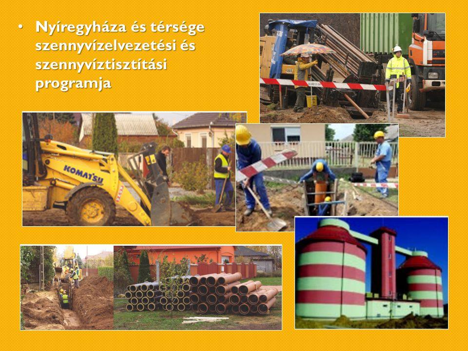 • Nyíregyháza és térsége szennyvízelvezetési és szennyvíztisztítási programja