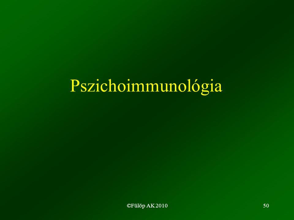 ©Fülöp AK 201050 Pszichoimmunológia