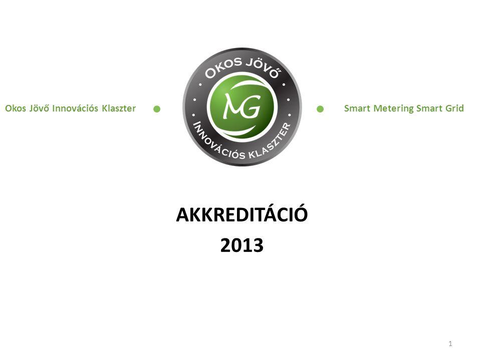 AKKREDITÁCIÓ 2013 1 Okos Jövő Innovációs Klaszter Smart Metering Smart Grid