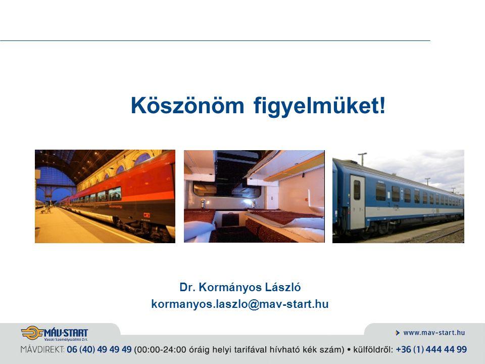Köszönöm figyelmüket! Dr. Kormányos László kormanyos.laszlo@mav-start.hu