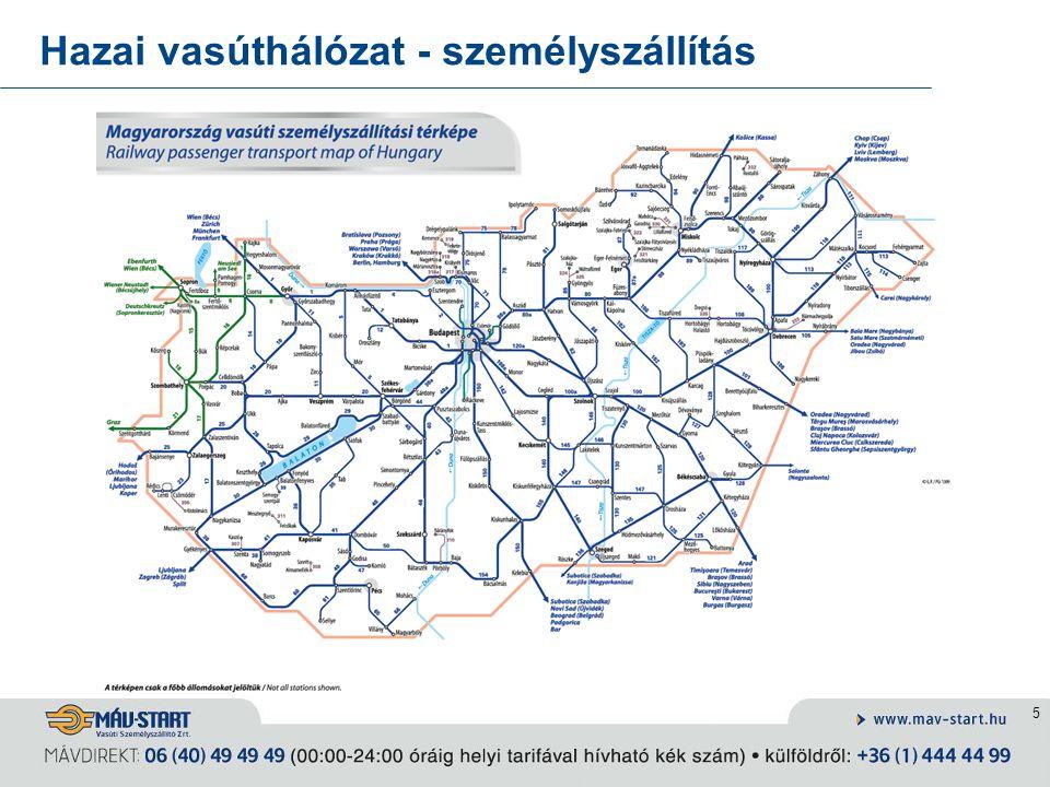 5 Hazai vasúthálózat - személyszállítás